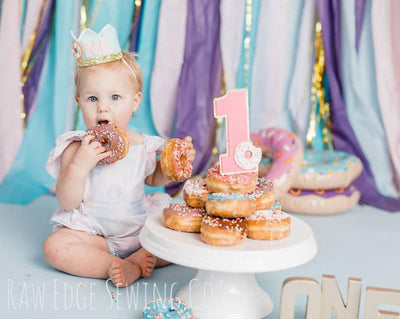 Donut Birthday Crown - Raw Edge Sewing Co