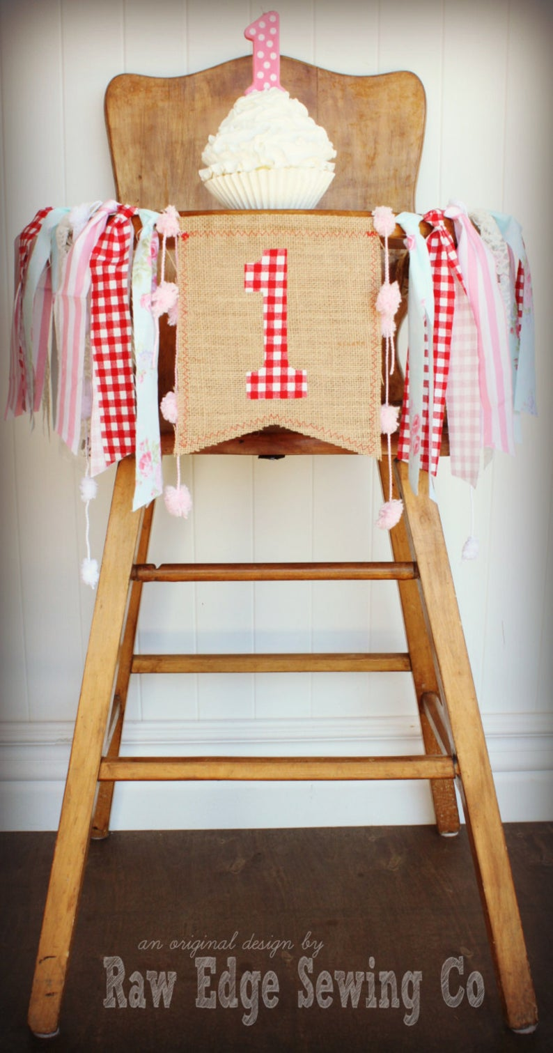 Farmer's Market Highchair Banner 1st Birthday Party Decoration
