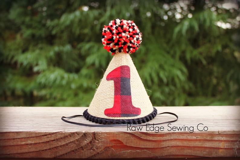 Lumberjack Buffalo Plaid Hat First Birthday