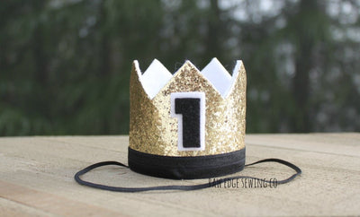 Mr. Onederful Birthday Crown - Raw Edge Sewing Co