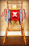 Pirate Highchair Banner 1st Birthday Party Decoration - Raw Edge Sewing Co