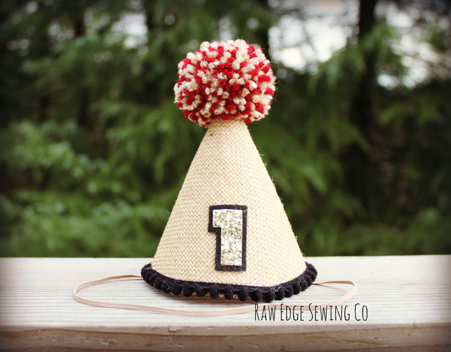 Christmas Polar Express Hat First Birthday - Raw Edge Sewing Co