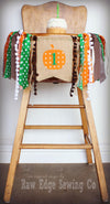 Twins Pumpkin Highchair Banner 1st Birthday Party Decoration - Raw Edge Sewing Co
