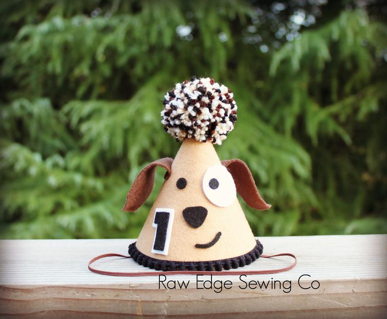 Puppy Dog Hat First Birthday - Raw Edge Sewing Co
