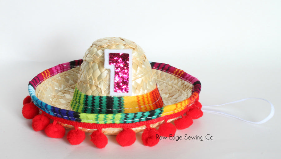Sombrero Hat First Birthday - Raw Edge Sewing Co