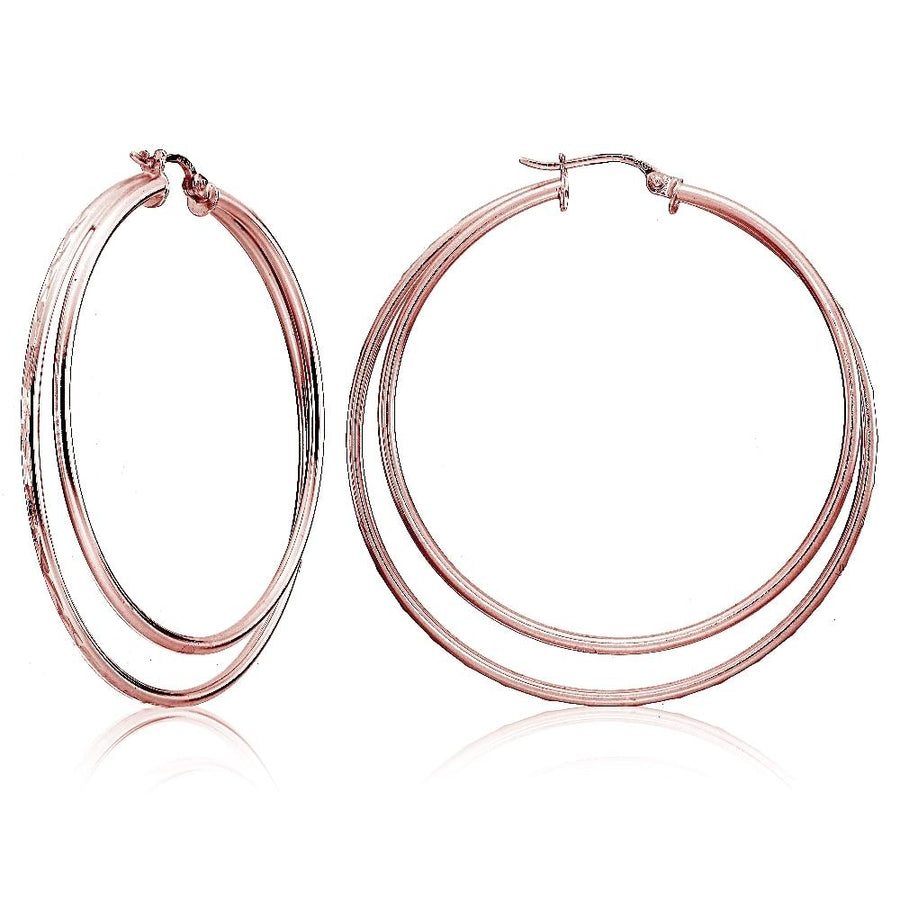 Rose Gold Double Circle