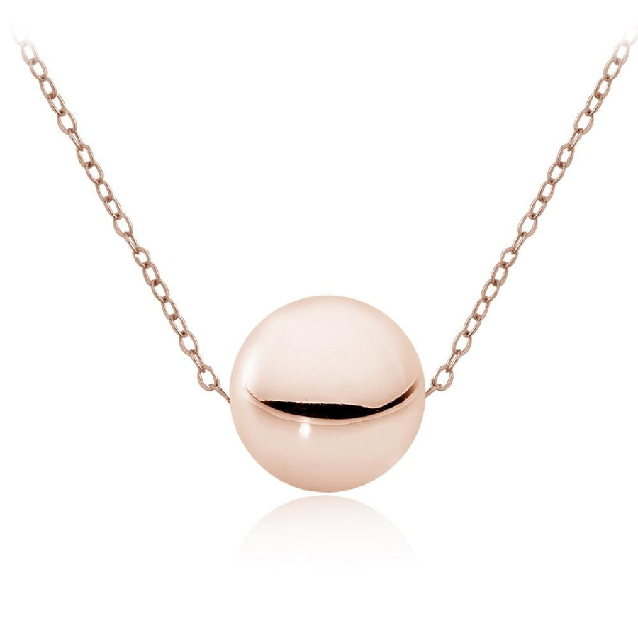 Rose Gold Ball Bead Necklace