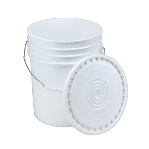 5-Gallon Bucket with Lid, White