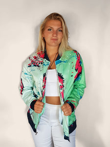 green retro vintage 80s style and old school womens jacket
