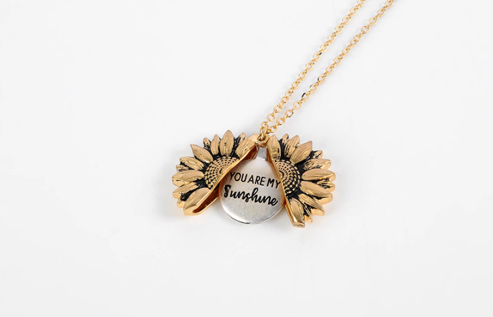 """YOU ARE MY SUNSHINE"" SUNFLOWER NECKLACE LIMTED EDITION"