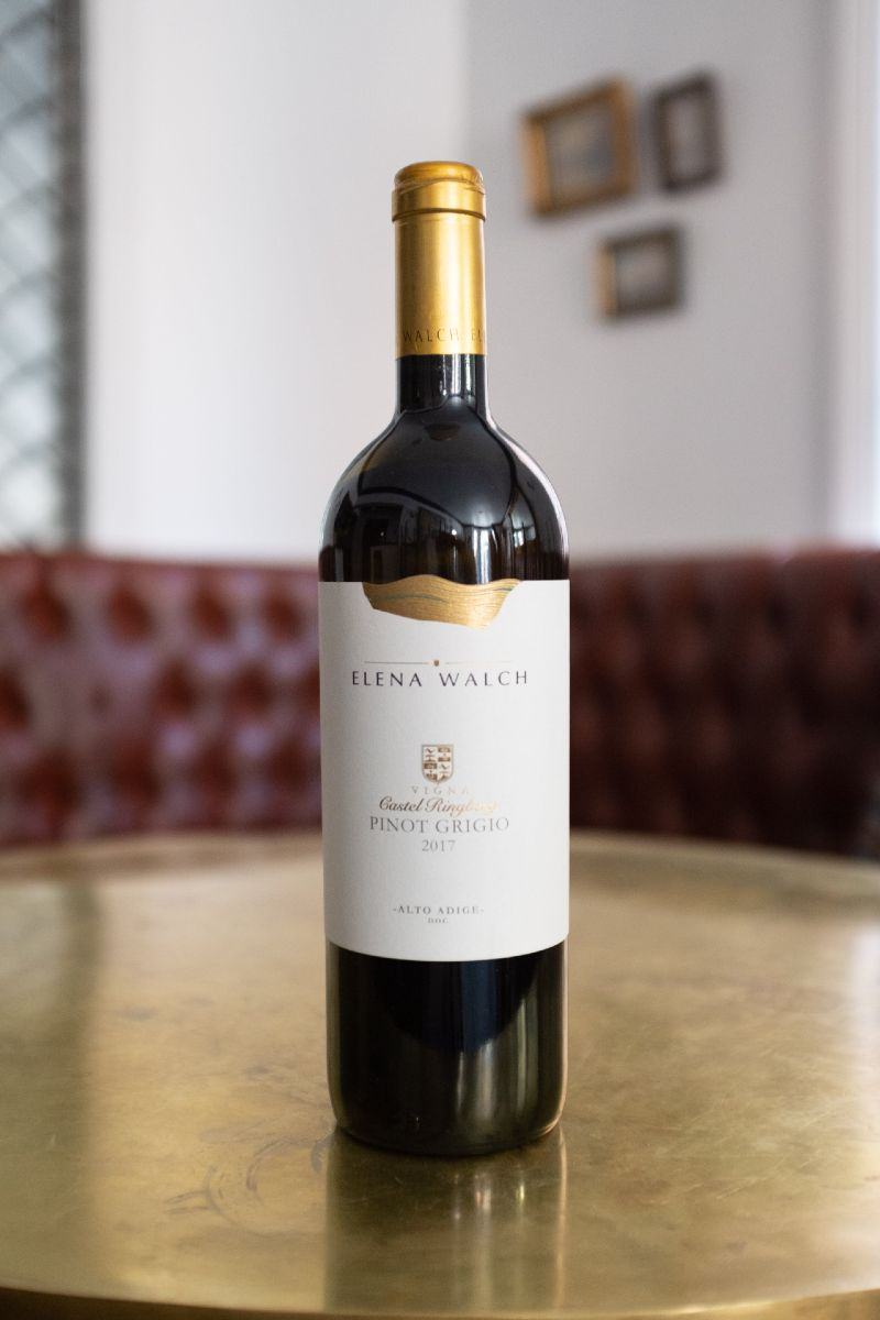 Elena Walch Pinot Grigio. A wine with a backbone and beautiful mineral-salty richness.