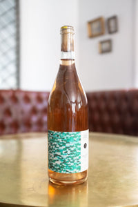 Martha Stoumen Teal Drop Rosé. Crisp, subtly cherry and a touch of salinity.