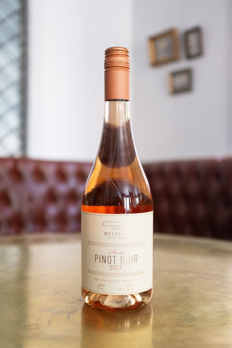 Wescott Rosé. Bright, crisp, with tart cherry, rhubarb and cranberry aromas.