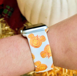 Pumpkin Printed Band for Apple Watch