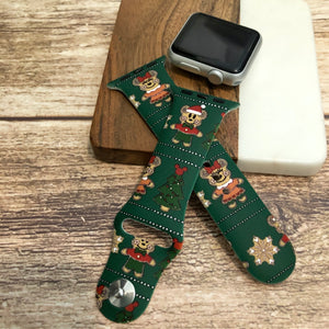 Gingerbread Printed Band for Apple Watch