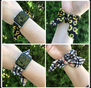 Fall Designs - Scrunchie Apple Watch Bands