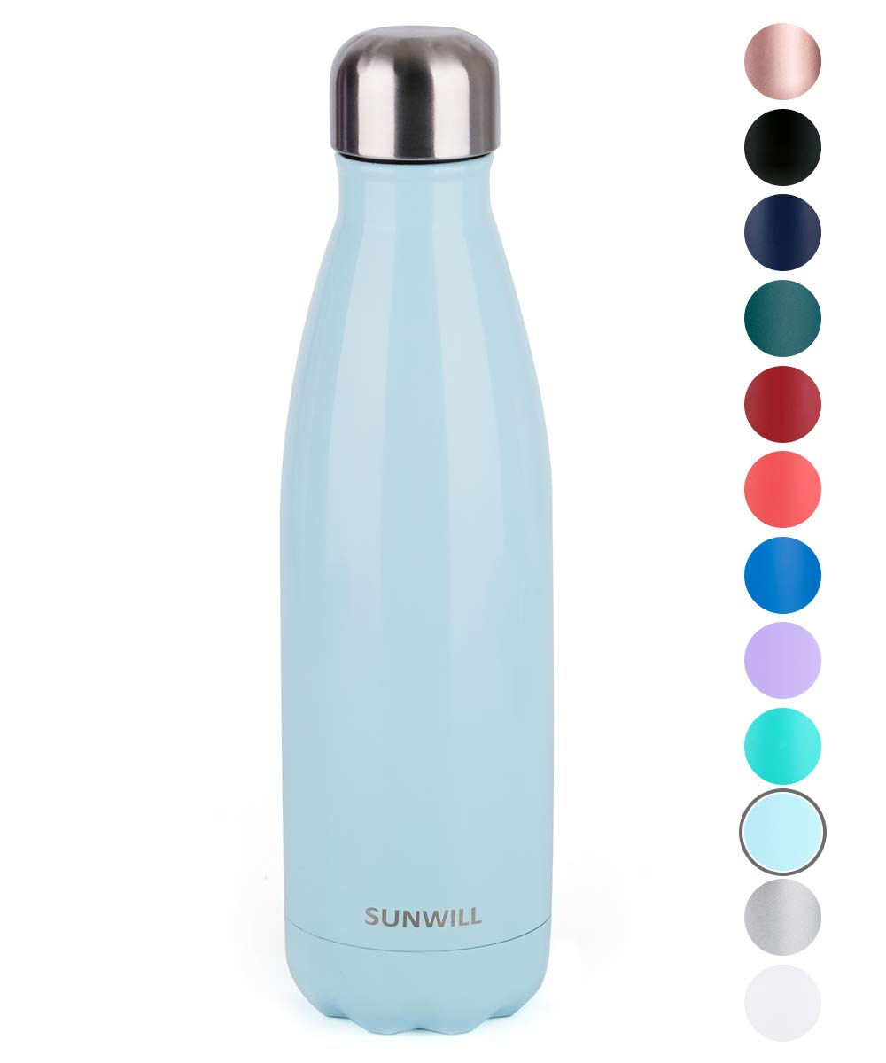 SUNWILL Insulated Stainless Steel Water Bottle Pearl Blue