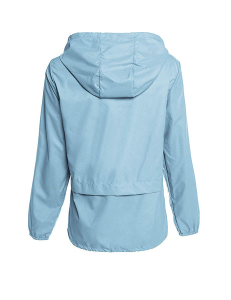 Avoogue Raincoat Women Lightweight Waterproof Rain Jackets Packable Outdoor Hooded Windbreaker