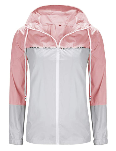 UUANG Women's Lightweight Packable Rain Jacket Hooded Waterproof Windbreaker