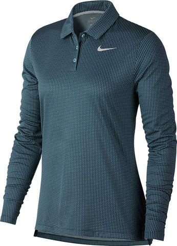 Nike Dry Longsleeves Core Circular Knit Jacquard Golf Polo 2019 Women