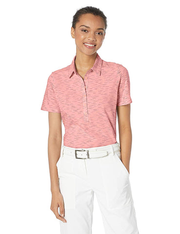 Skechers Women's Spacedye Heathered Short Sleeve Golf Polo Ii