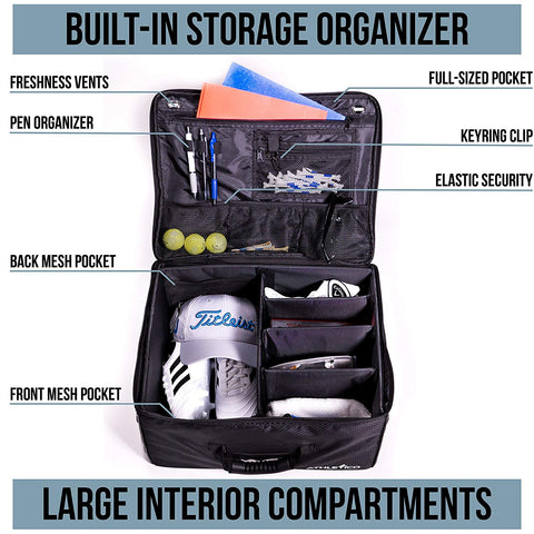 Athletico Golf Trunk Organizer Storage - Car Golf Locker to Store Golf Accessories