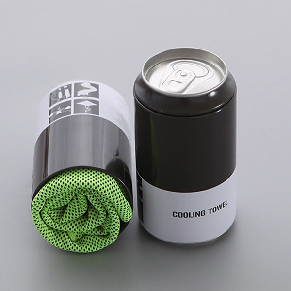 Microfiber Cooling Golf Towel W/Bottle