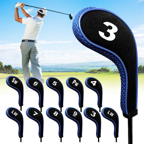 12Pcs Golfs Clubs Iron Head Covers