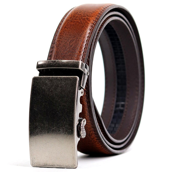 Men's CETIRI 24 Styles Leather Belt W/Automatic Buckle Leather