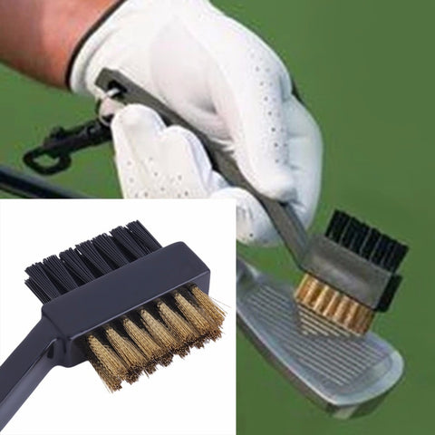 2 Sided Golf Club Brush Groove Cleaner
