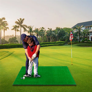 For Indoor Outdoor Golf Double Hole Strike Pad 5ft*3ft Golf Mat Practice Protable Golf Training Aids 152*92*3CM