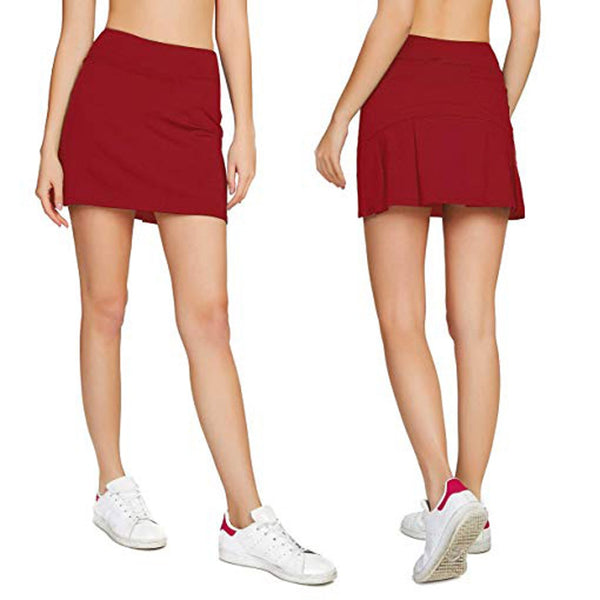 Women's Casual Pleated Golf Skirt W/Underneath Shorts