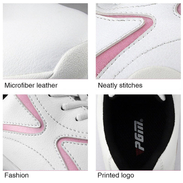 Women' Golf Shoes Breathable Microfiber Leather Waterproof
