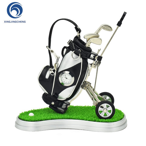 Novelty Desk Golf Pen Holder W/Clock