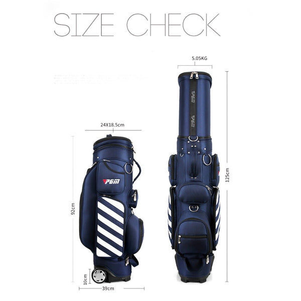 PGM Golf Travel Bag Hard Shell & Wheels