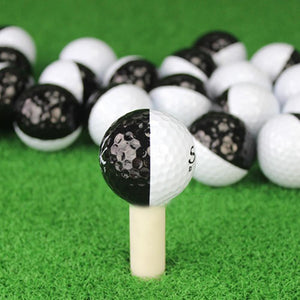Golf Balls Set Long Distance Black And White
