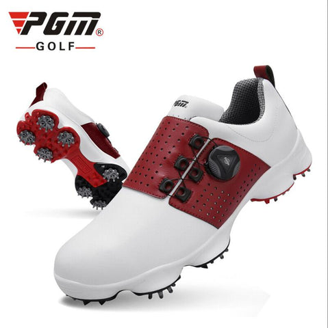 Men,s PGM Men's Golf Spikes Microfiber Auto-Lacing
