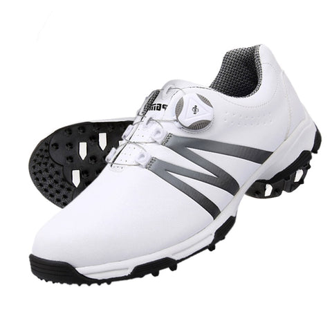 Men 's Waterproof Sneakers Golf Shoes Leather