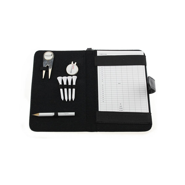 Golf Leather Scorecard Holder W/Hook