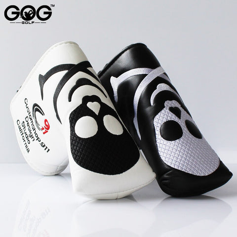 New Two Colors Skull Golf Headcover