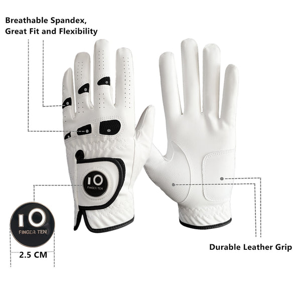 Men's Golf Gloves with Ball Marker