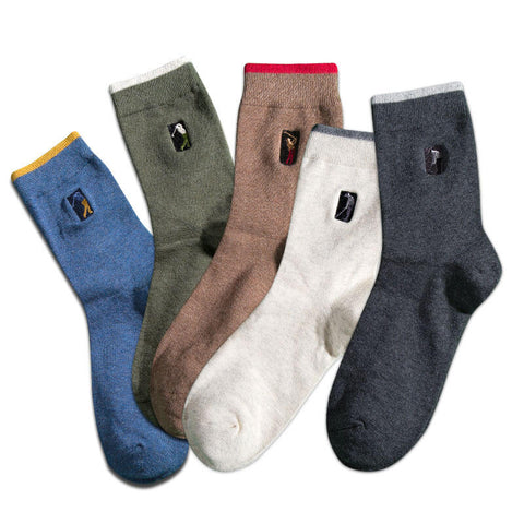 5 Pairs Men's Ankle High Quality Socks