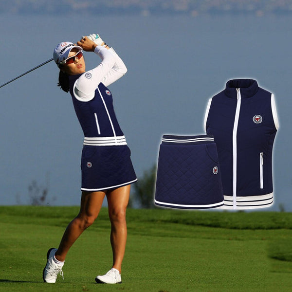 PGM Women's Golf Sleeveless Jackets / Skirt