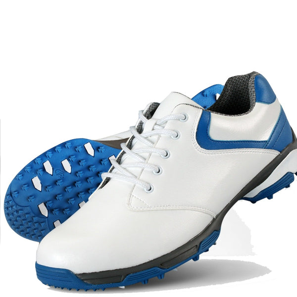 Men's Waterproof Breathable Leather Golf Shoes