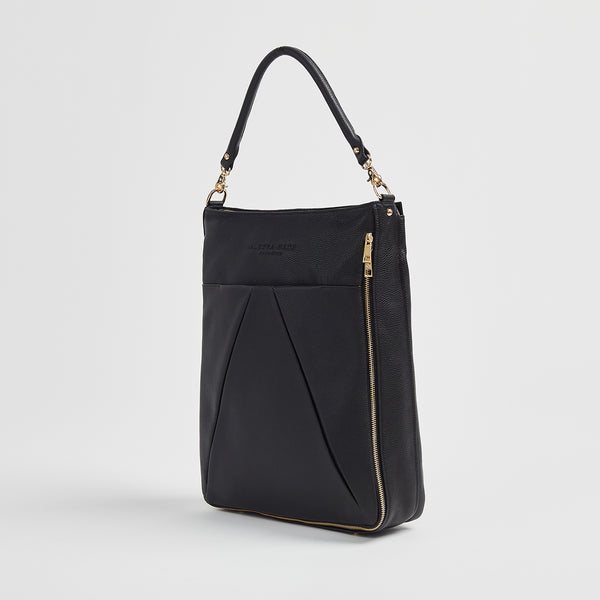 Maribelle - Travel Bag | Black With Gold Hardware