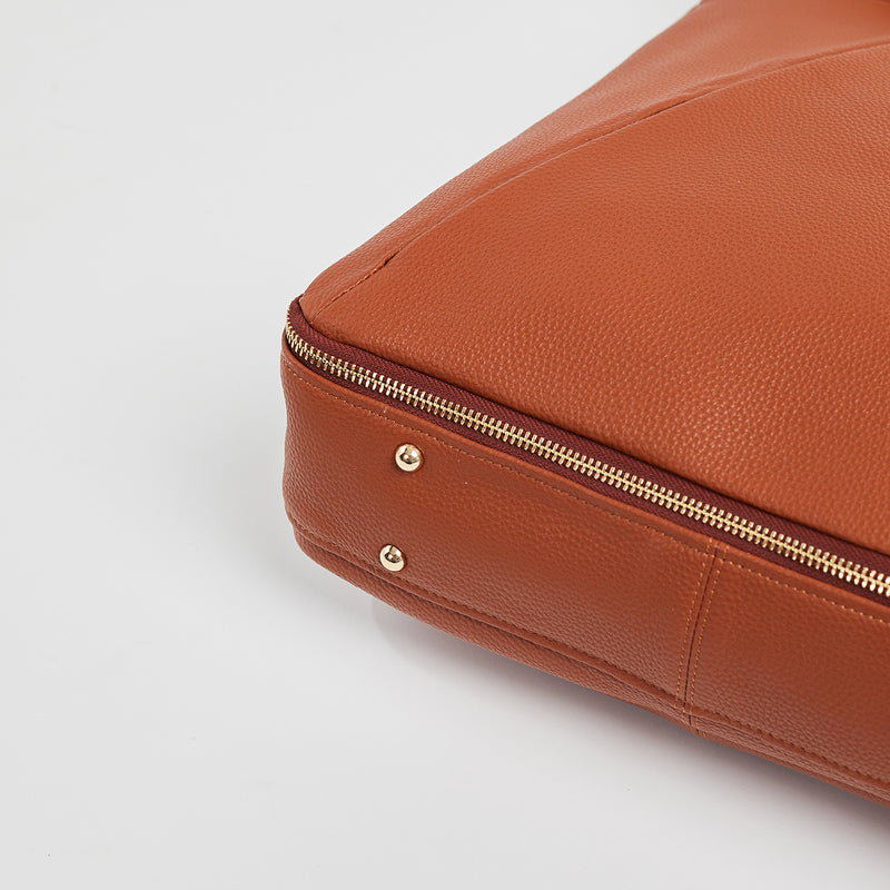 Maribelle - Travel Bag | Brandy With Gold Hardware