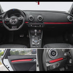 Car Styling Center Console Dashboard Trim Car Door Decoration Cover Trim Carbon Fiber Sticker For Audi A3 8V S3 Auto Accessories