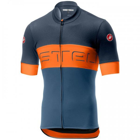 Castelli Prologo VI Jersey Blue/Orange