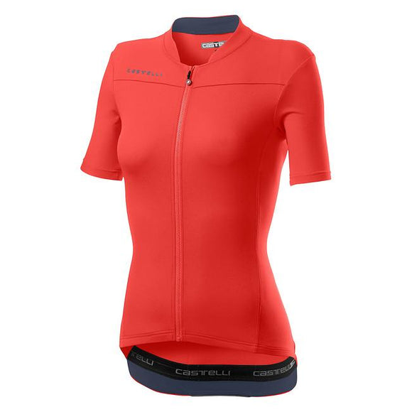 CASTELLI Anima 3 Jersey Womens - BRILLIANT PINK/DARK STEEL BLUE