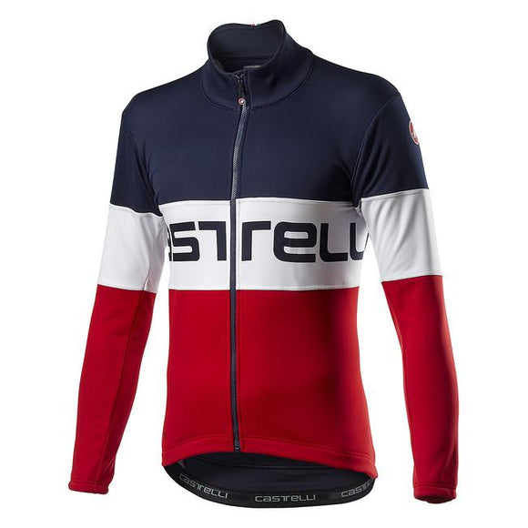CASTELLI Prologo Jacket - Savile Blue White Red
